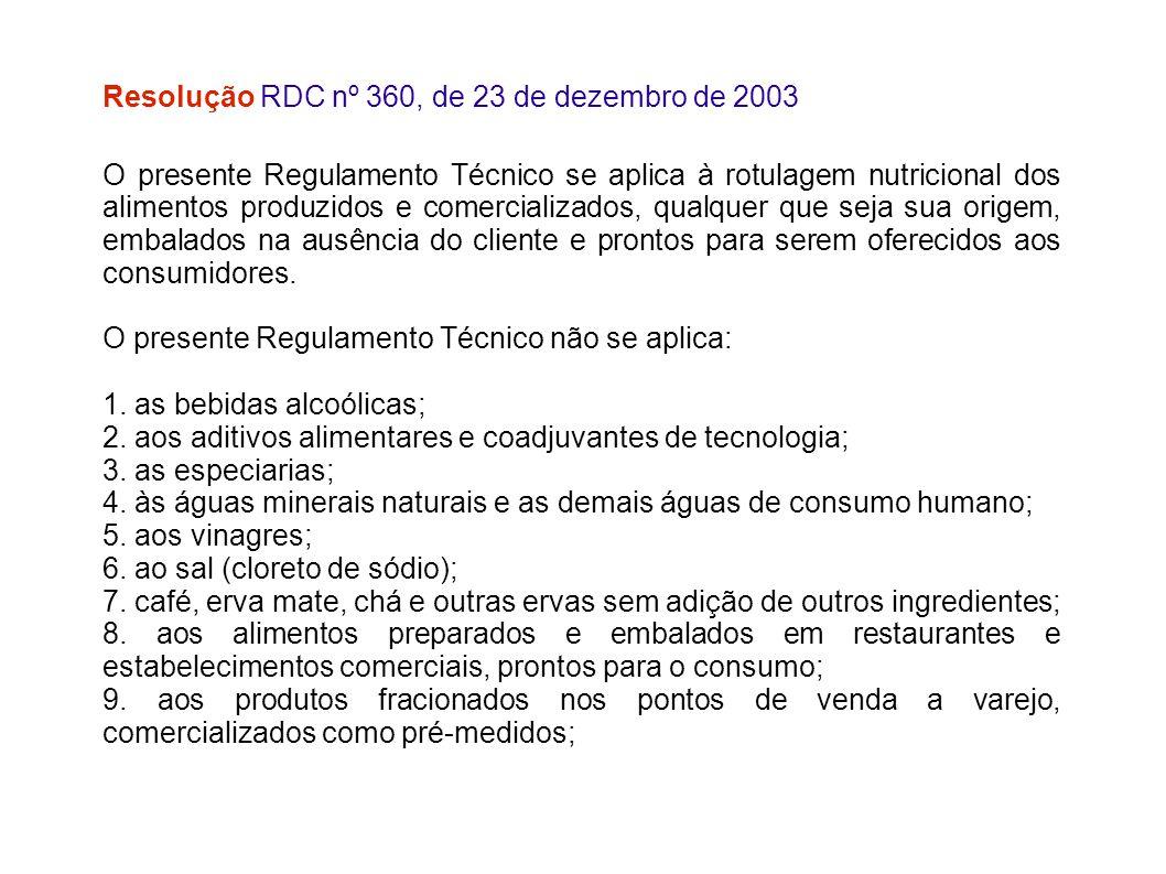 Resolução RDC nº 360, de 23 de dezembro de 2003