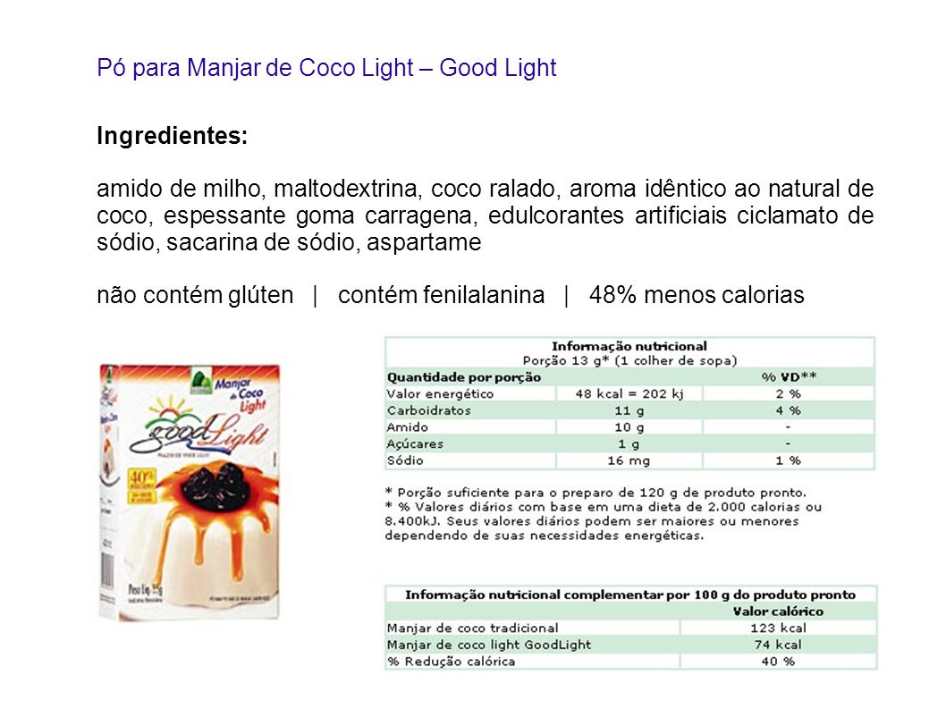Pó para Manjar de Coco Light – Good Light