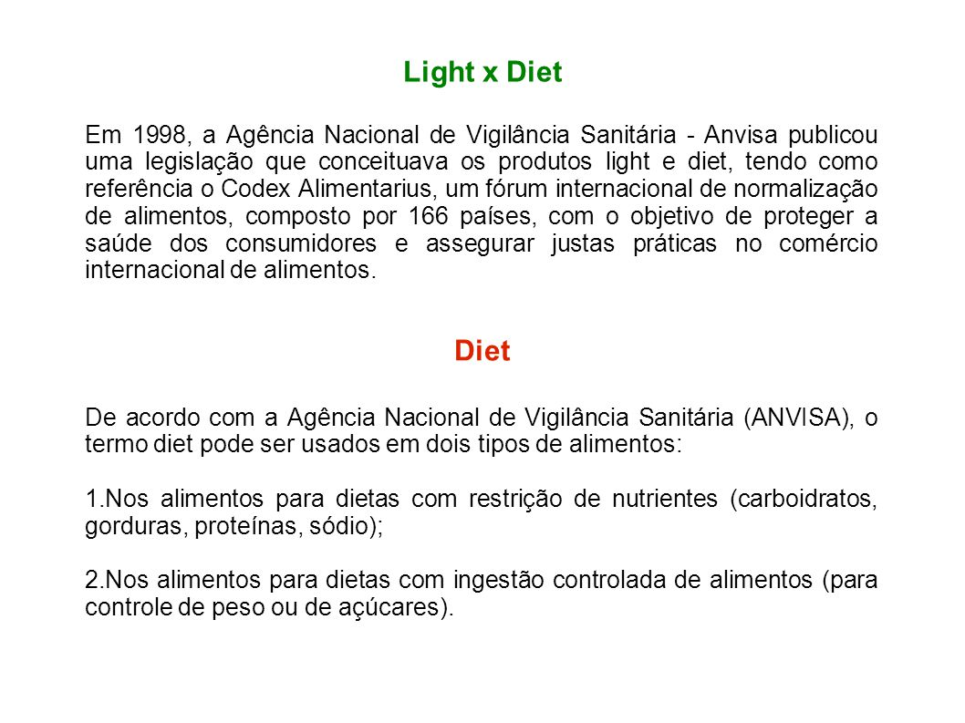 Light x Diet