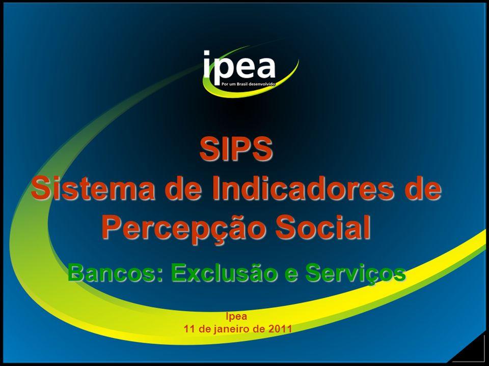 SIPS Sistema de Indicadores de Percepção Social