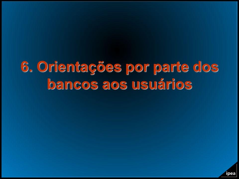 6. Orientações por parte dos bancos aos usuários