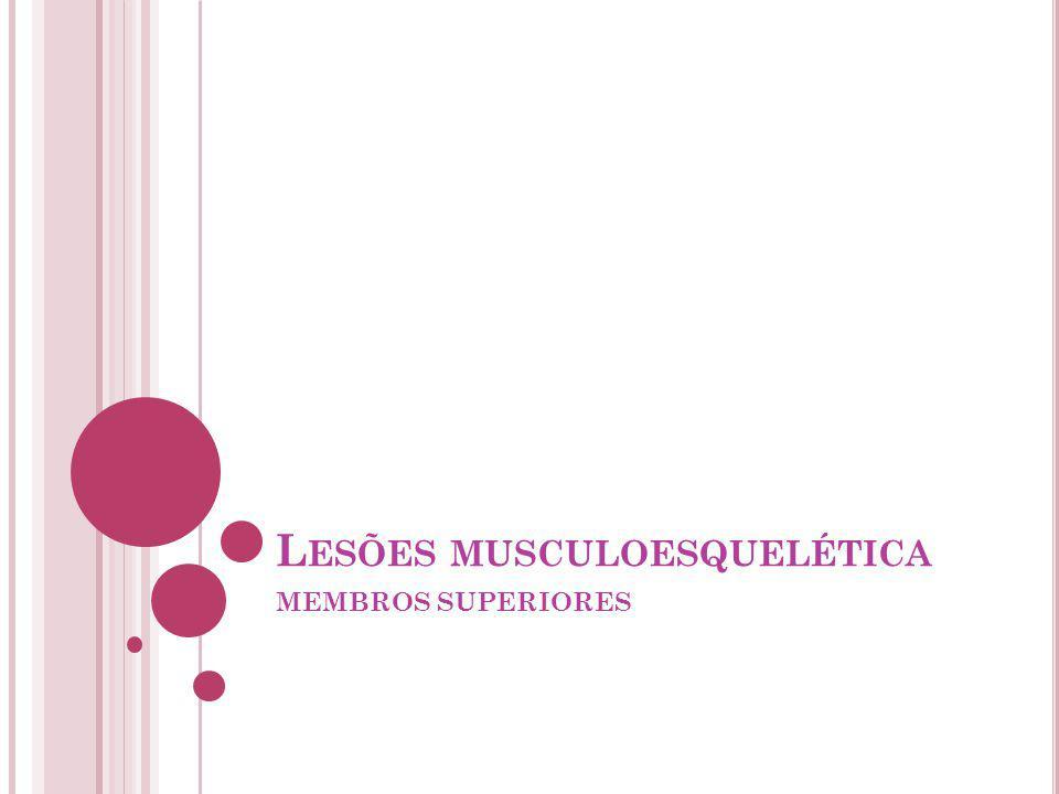 Lesões musculoesquelética