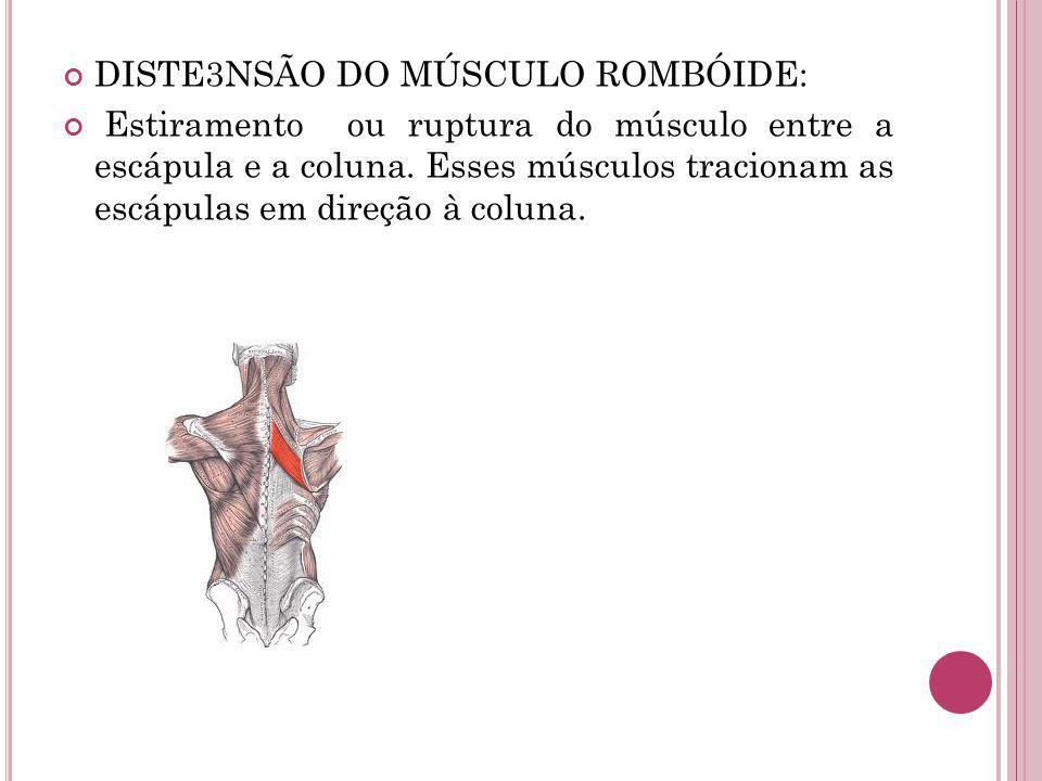 DISTE3NSÃO DO MÚSCULO ROMBÓIDE: