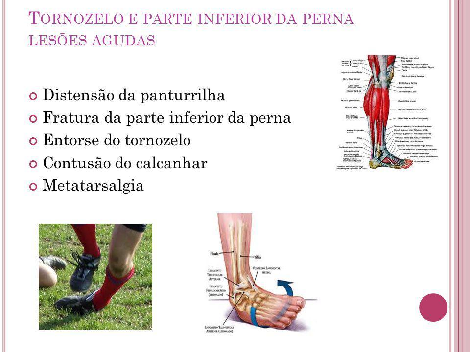 Tornozelo e parte inferior da perna lesões agudas