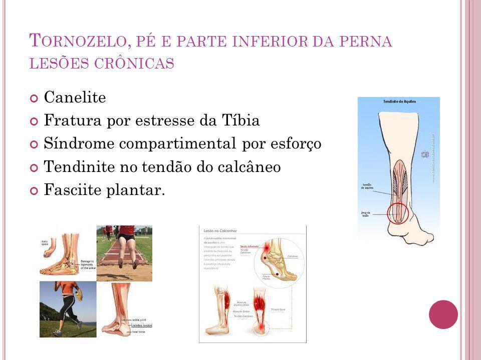 Tornozelo, pé e parte inferior da perna lesões crônicas