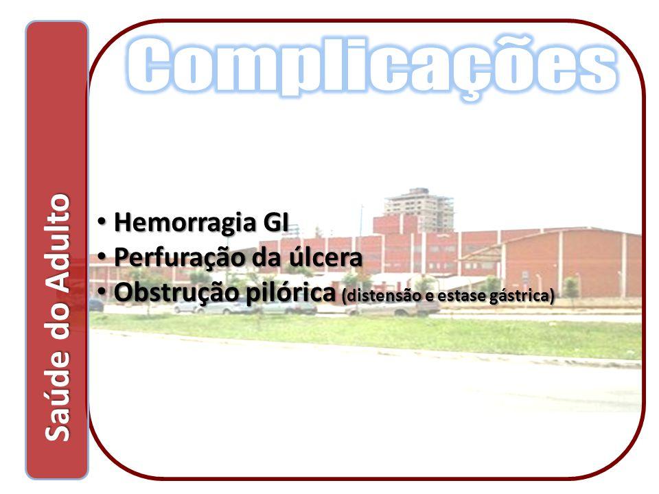 Complicações Saúde do Adulto Hemorragia GI Perfuração da úlcera