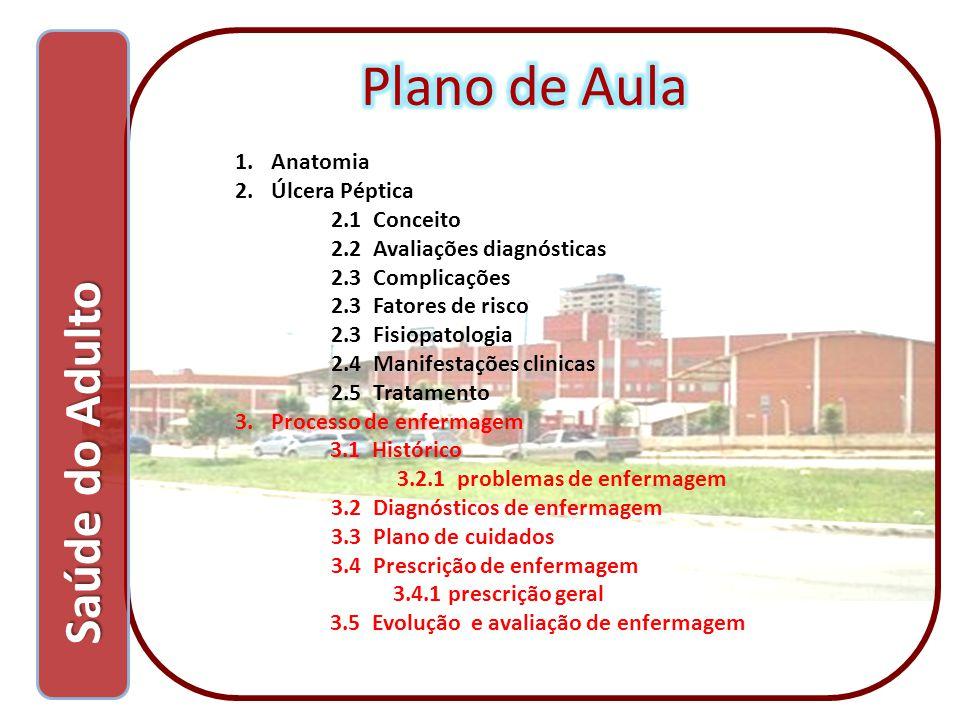 Plano de Aula Saúde do Adulto Anatomia Úlcera Péptica 2.1 Conceito
