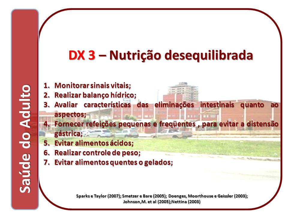 DX 3 – Nutrição desequilibrada