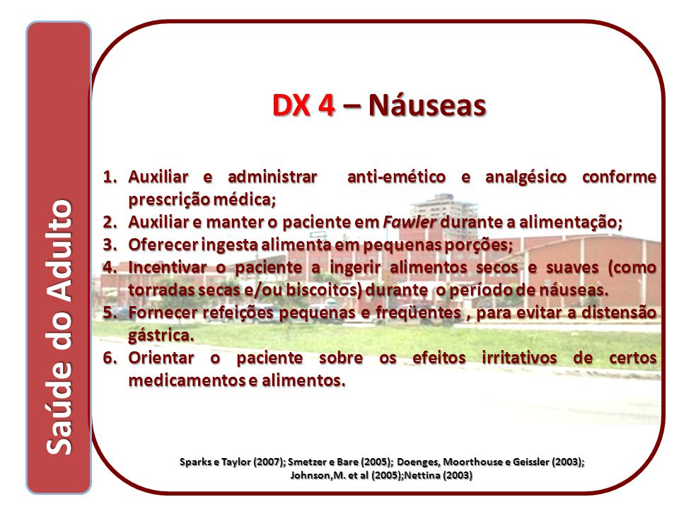 Saúde do Adulto DX 4 – Náuseas