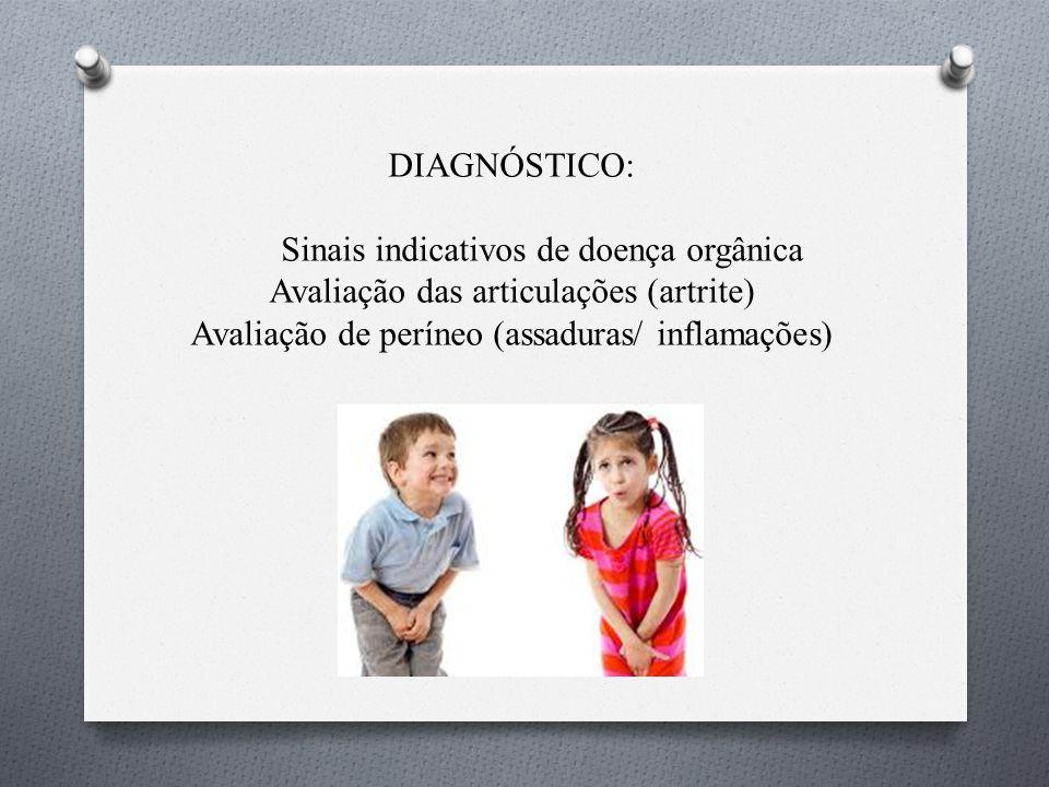 Sinais indicativos de doença orgânica