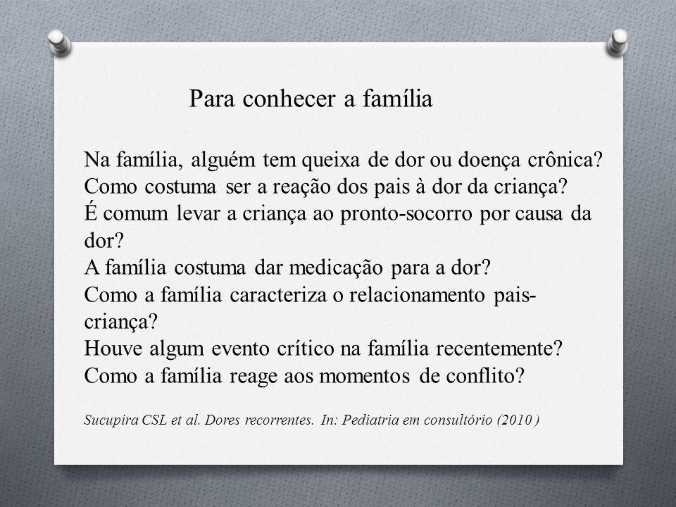Para conhecer a família