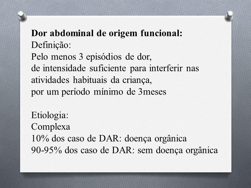 Dor abdominal de origem funcional: