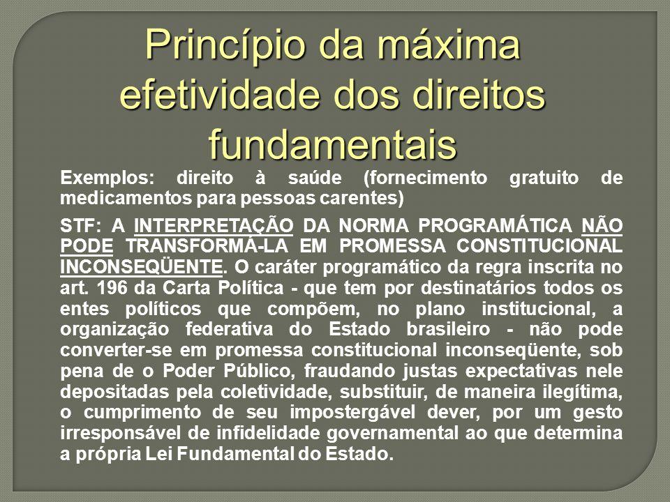 Princípio da máxima efetividade dos direitos fundamentais