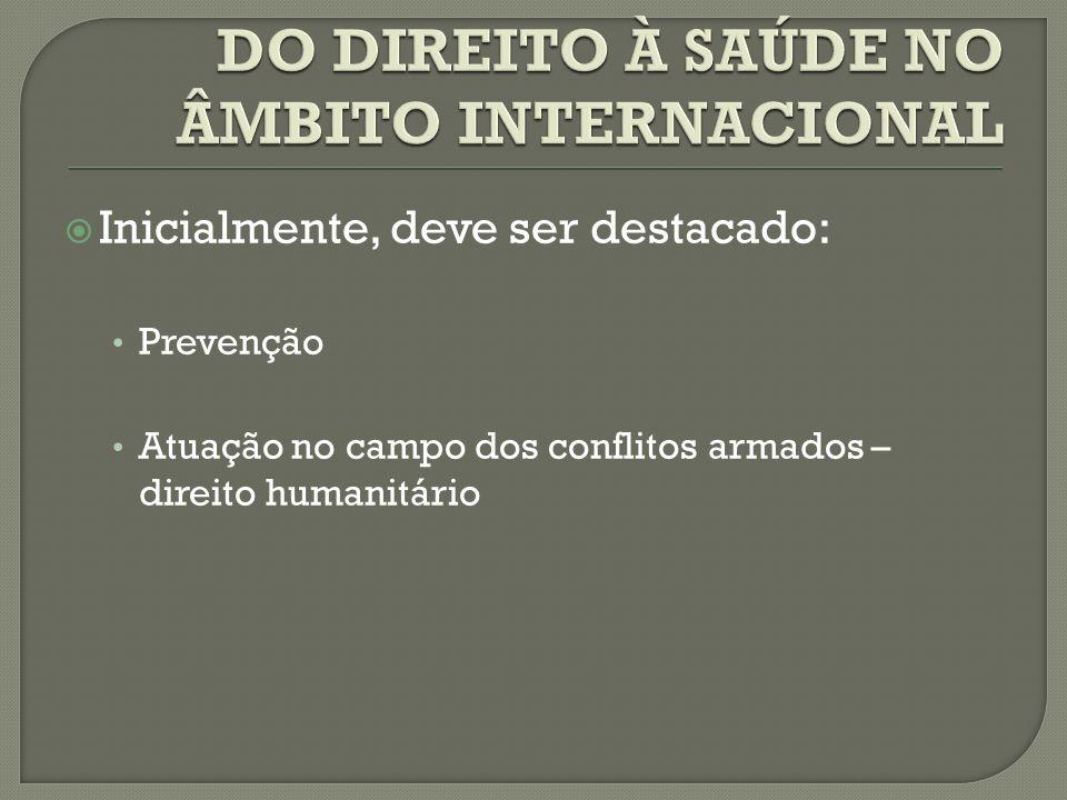 DO DIREITO À SAÚDE NO ÂMBITO INTERNACIONAL
