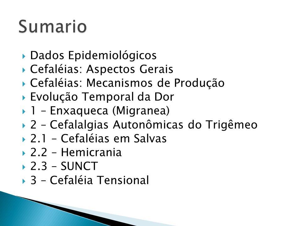 Sumario Dados Epidemiológicos Cefaléias: Aspectos Gerais