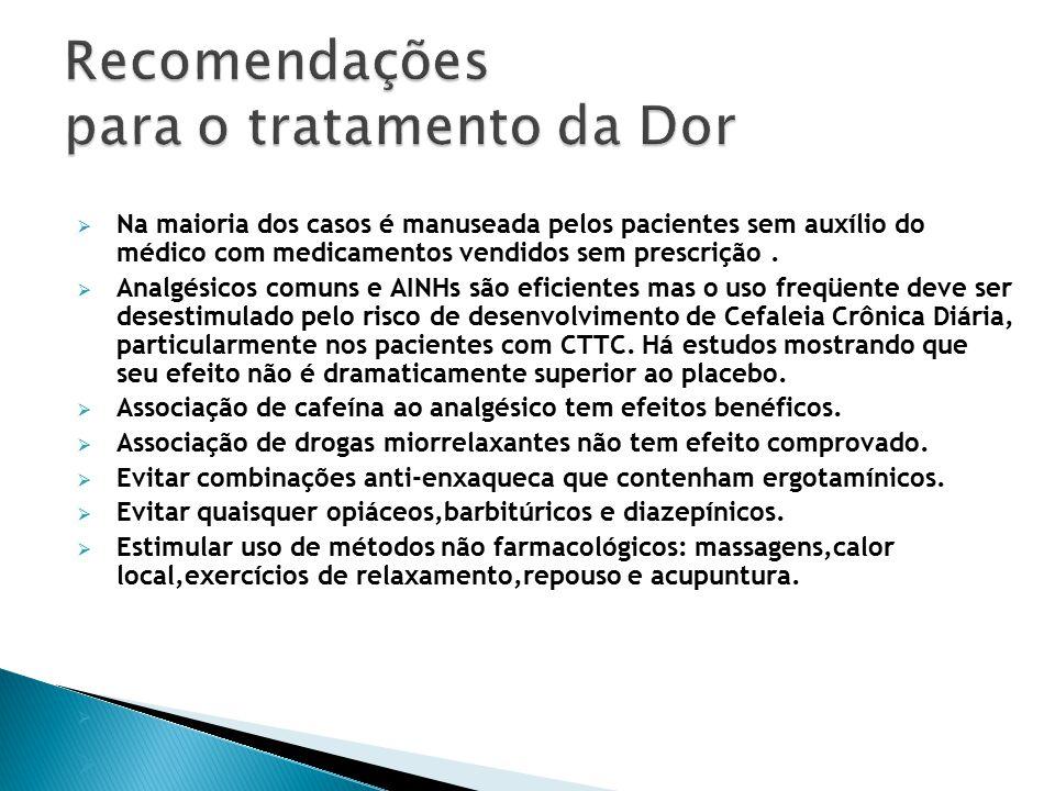 Recomendações para o tratamento da Dor