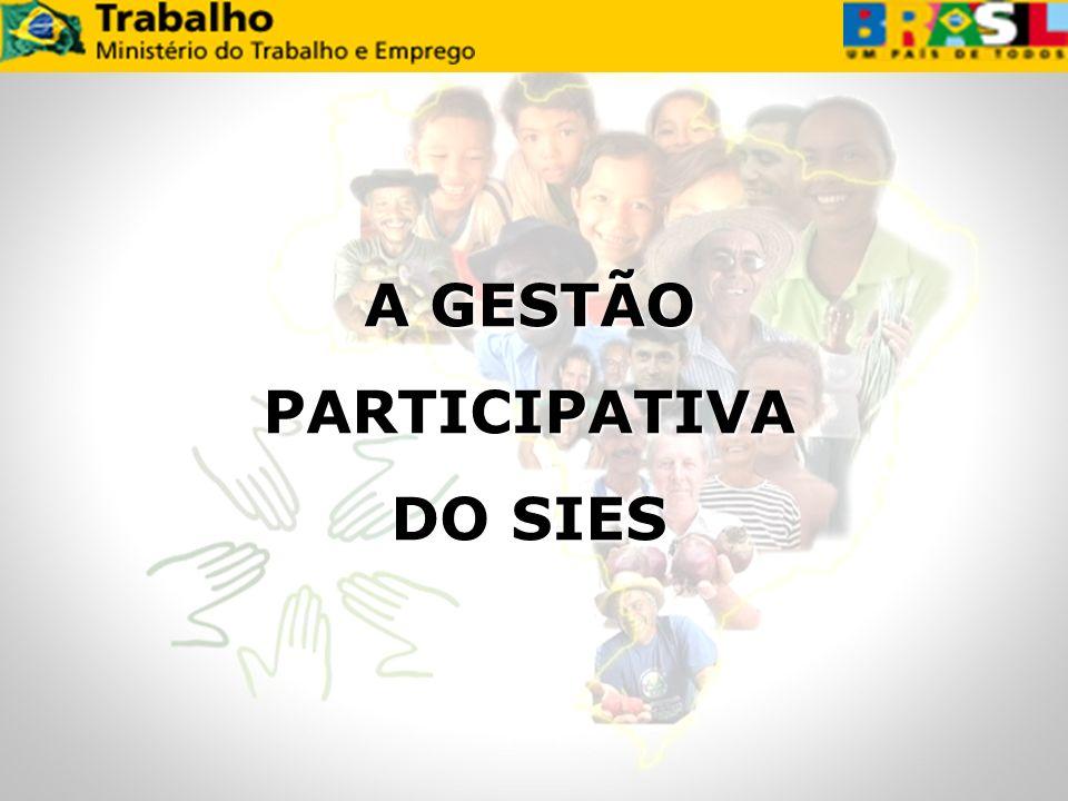 A GESTÃO PARTICIPATIVA DO SIES