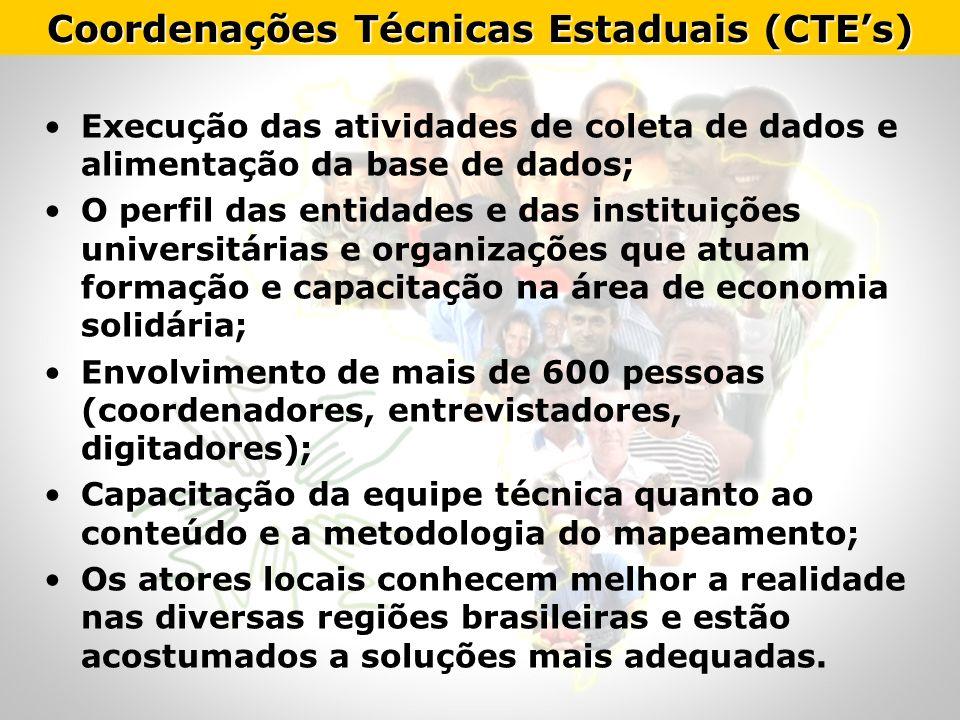 Coordenações Técnicas Estaduais (CTE's)