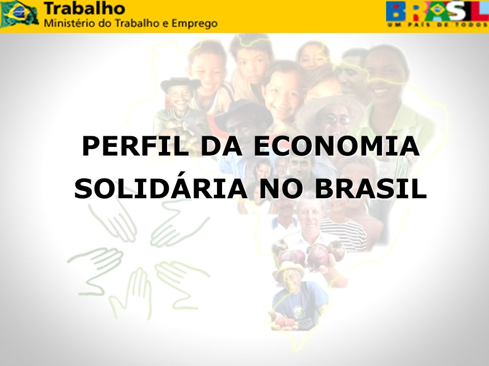 PERFIL DA ECONOMIA SOLIDÁRIA NO BRASIL