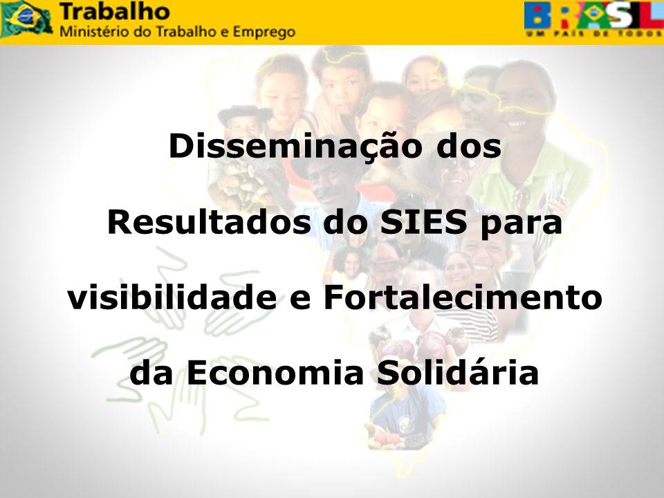 Disseminação dos Resultados do SIES para visibilidade e Fortalecimento da Economia Solidária