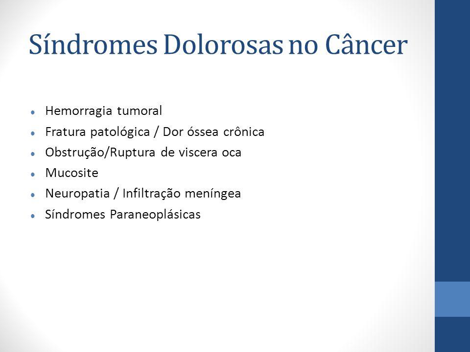 Síndromes Dolorosas no Câncer
