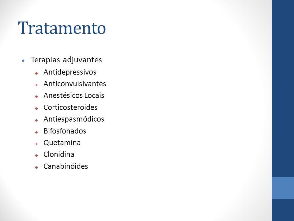 Tratamento Terapias adjuvantes Antidepressivos Anticonvulsivantes