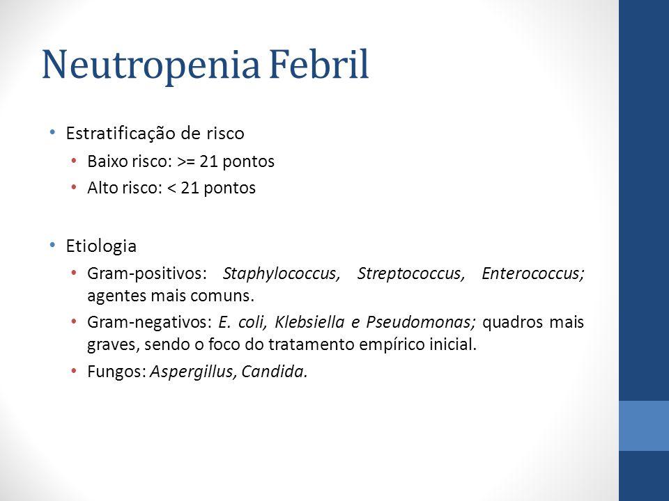 Neutropenia Febril Estratificação de risco Etiologia