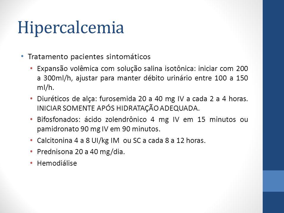 Hipercalcemia Tratamento pacientes sintomáticos