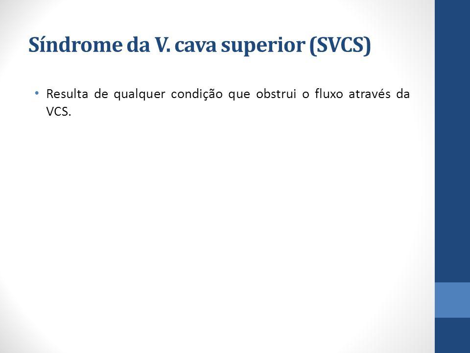 Síndrome da V. cava superior (SVCS)