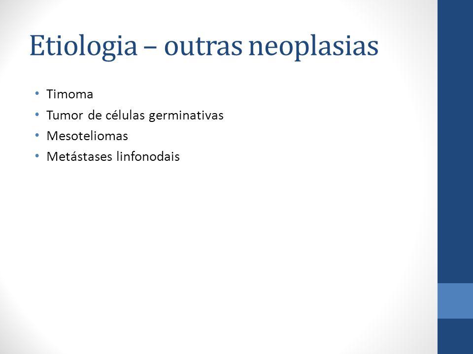Etiologia – outras neoplasias