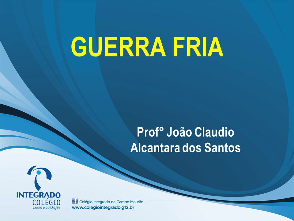 Prof° João Claudio Alcantara dos Santos