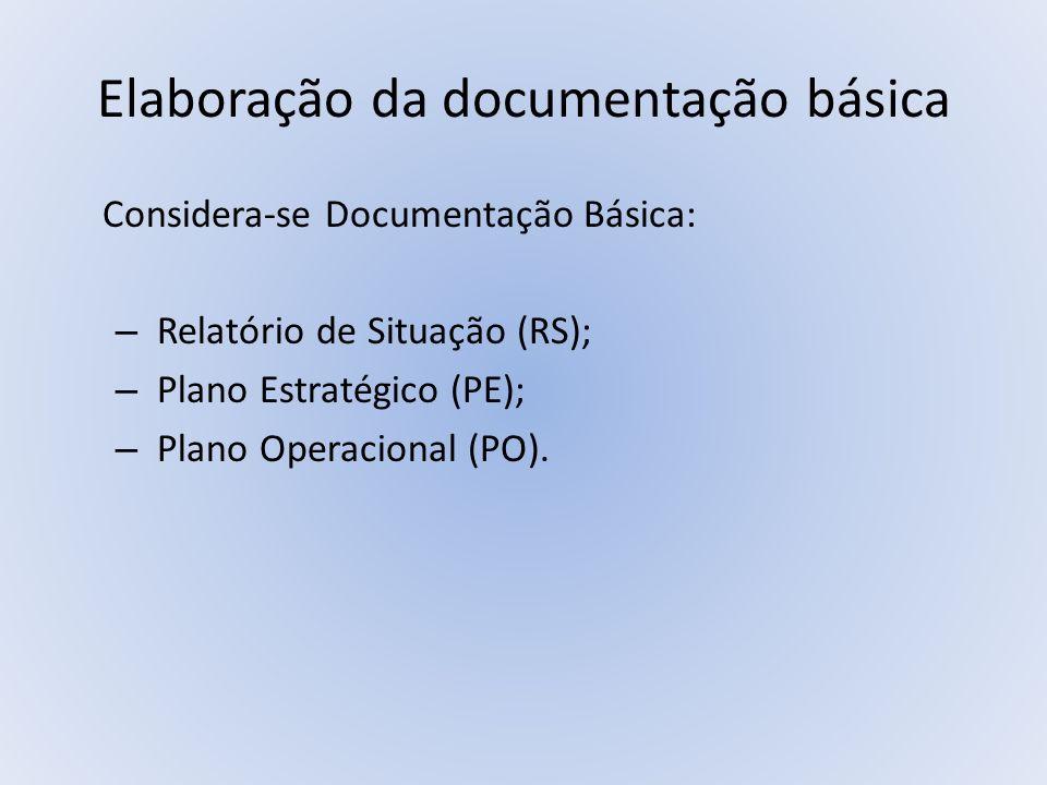 Elaboração da documentação básica