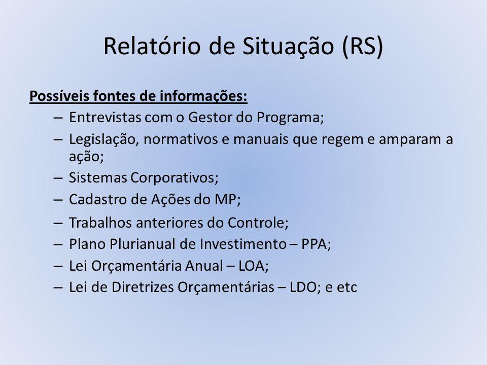 Relatório de Situação (RS)