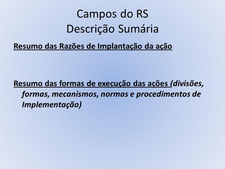 Campos do RS Descrição Sumária