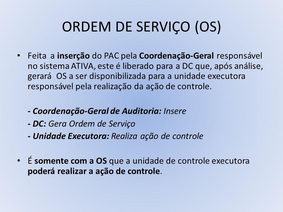 ORDEM DE SERVIÇO (OS)