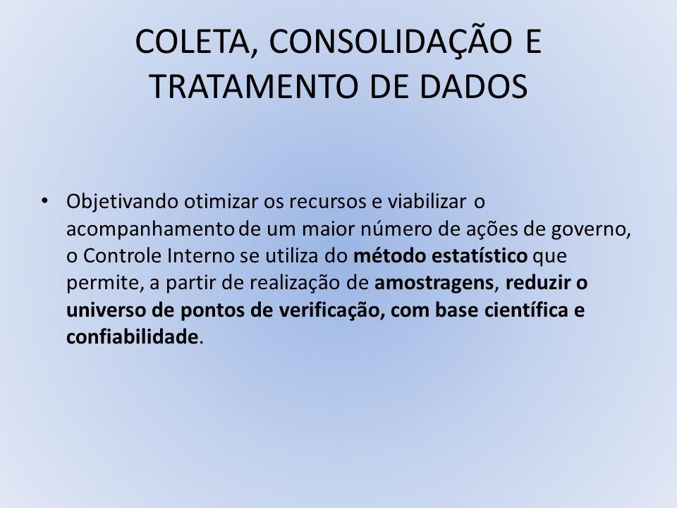 COLETA, CONSOLIDAÇÃO E TRATAMENTO DE DADOS