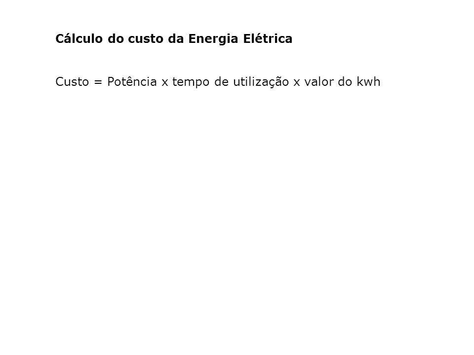 Cálculo do custo da Energia Elétrica