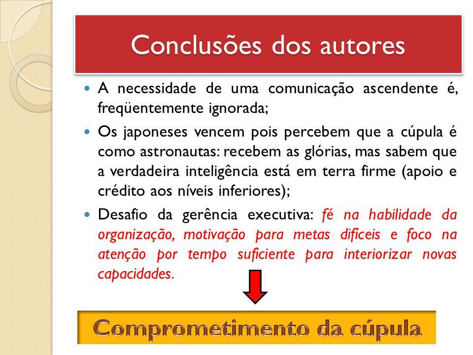 Conclusões dos autores