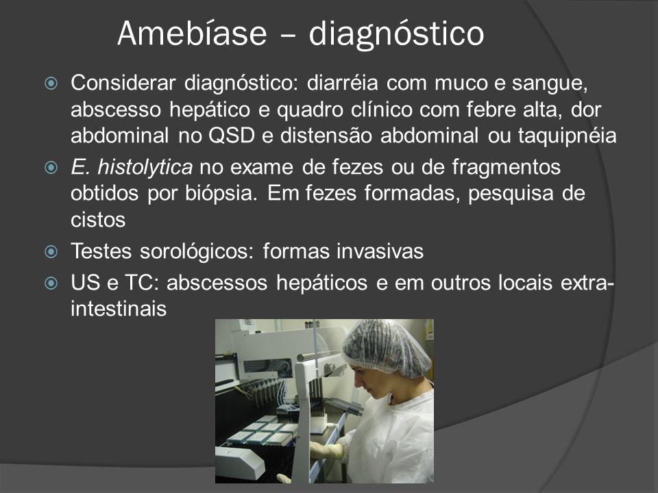 Amebíase – diagnóstico