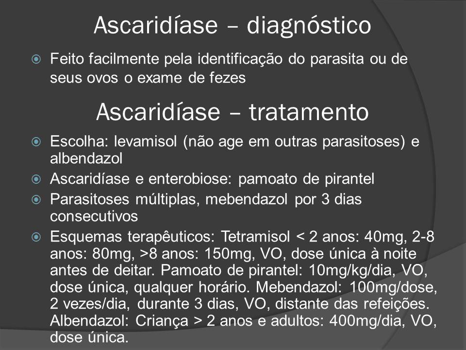 Ascaridíase – diagnóstico