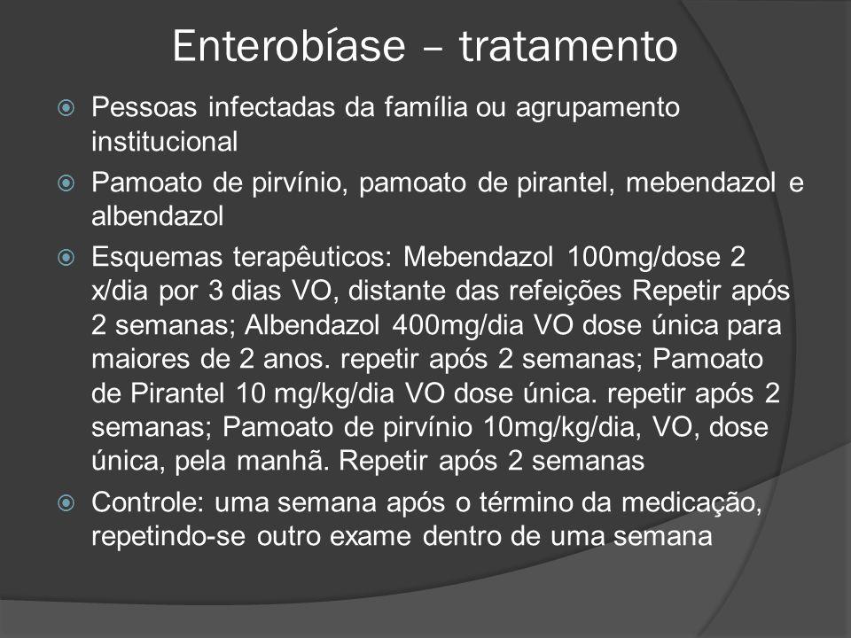 Enterobíase – tratamento