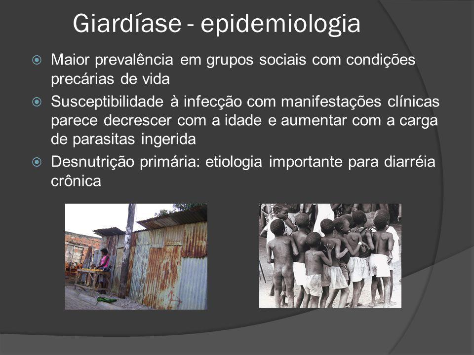 Giardíase - epidemiologia