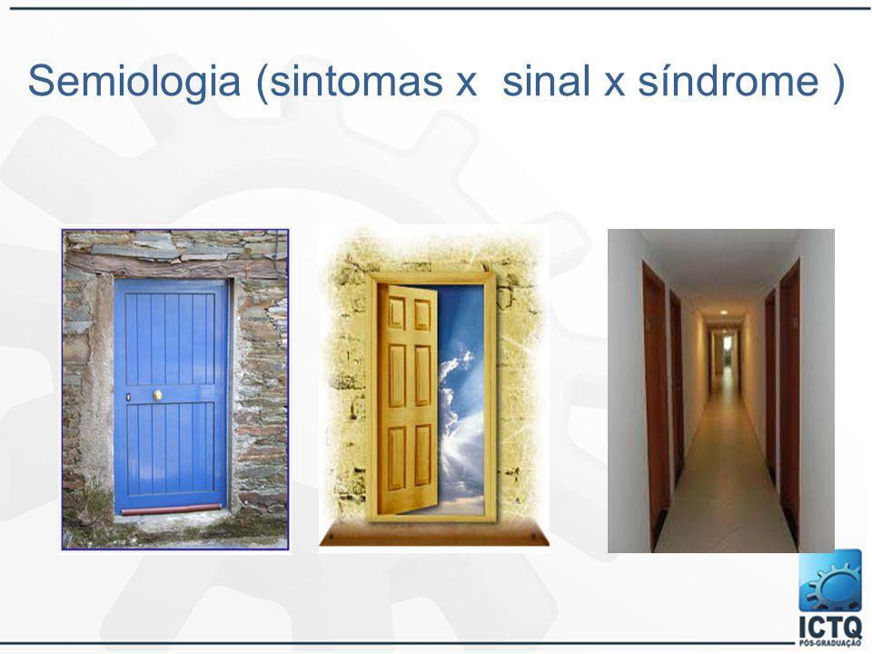 Semiologia (sintomas x sinal x síndrome )