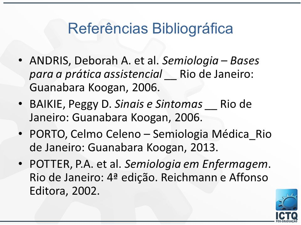 Referências Bibliográfica