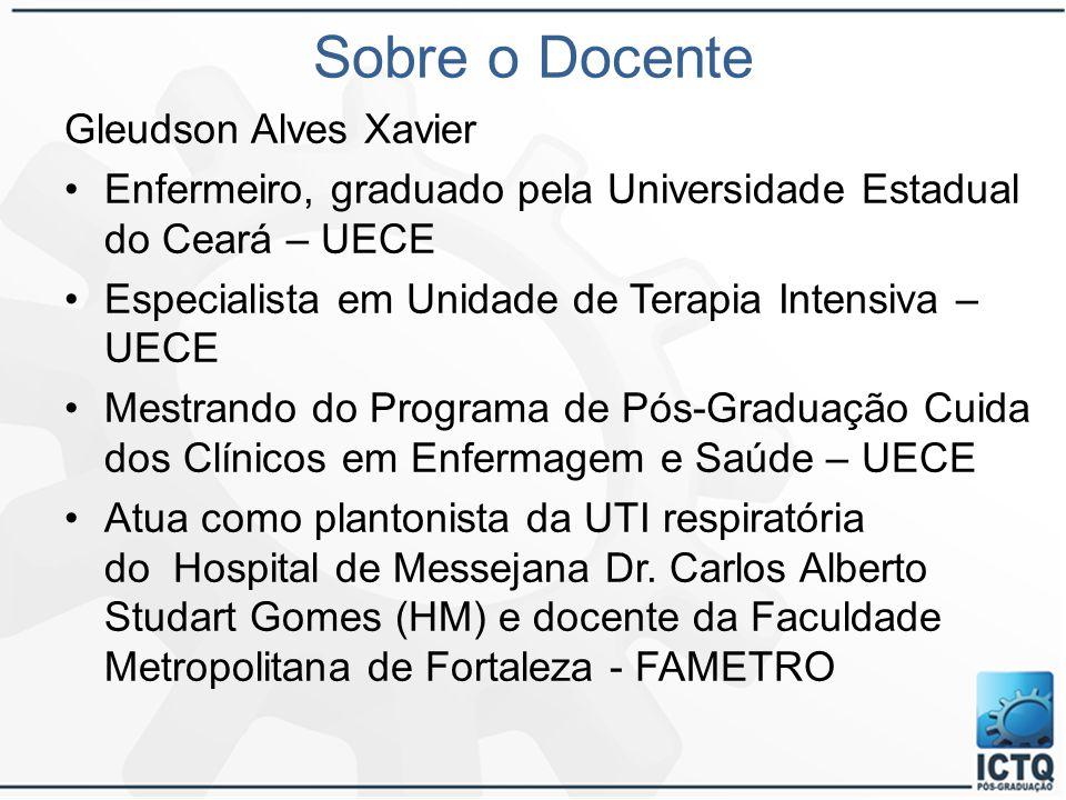 Sobre o Docente Gleudson Alves Xavier