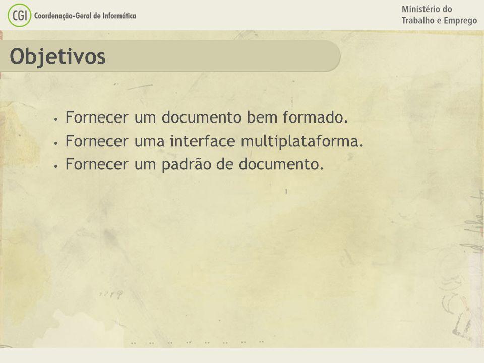 Objetivos Fornecer um documento bem formado.
