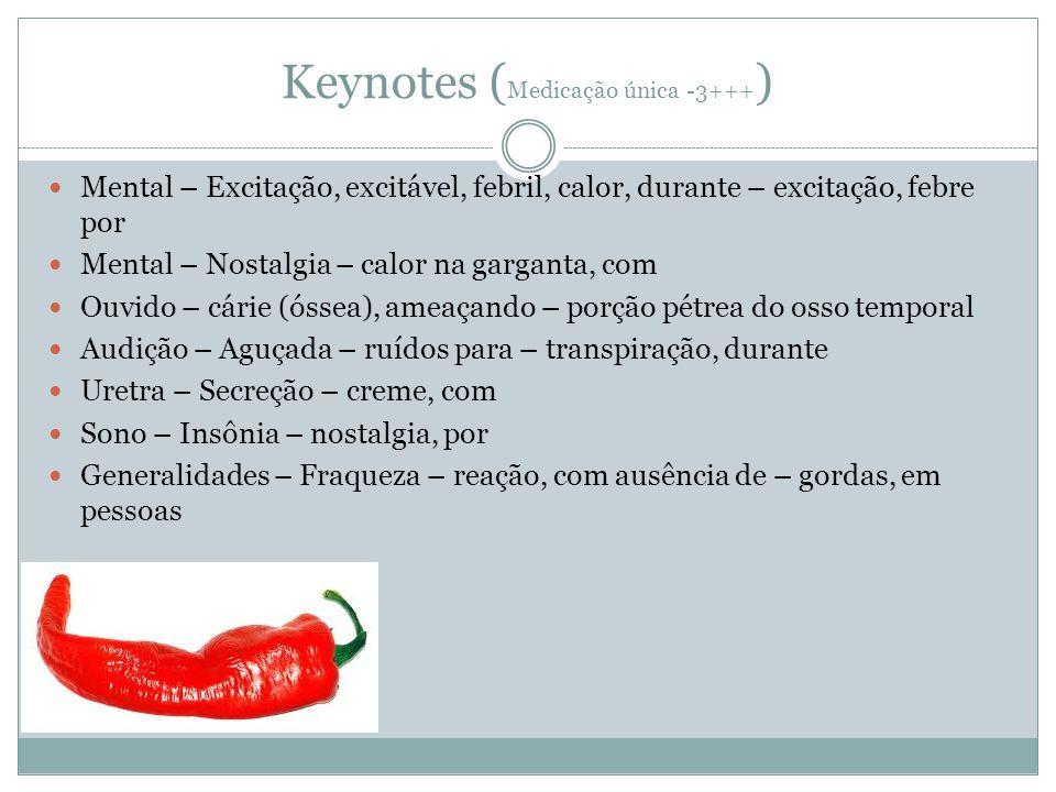 Keynotes (Medicação única -3+++)