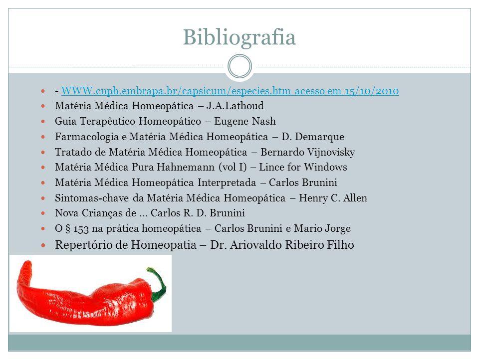 Bibliografia Repertório de Homeopatia – Dr. Ariovaldo Ribeiro Filho