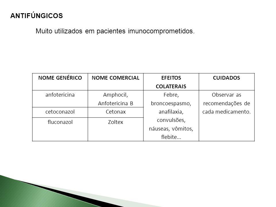 Muito utilizados em pacientes imunocomprometidos.