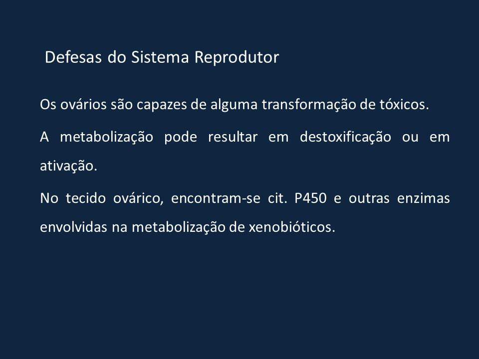 Defesas do Sistema Reprodutor